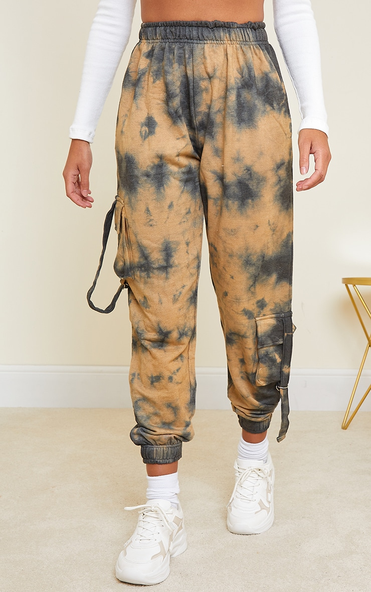 Taupe Cargo Tie Dye Joggers 2