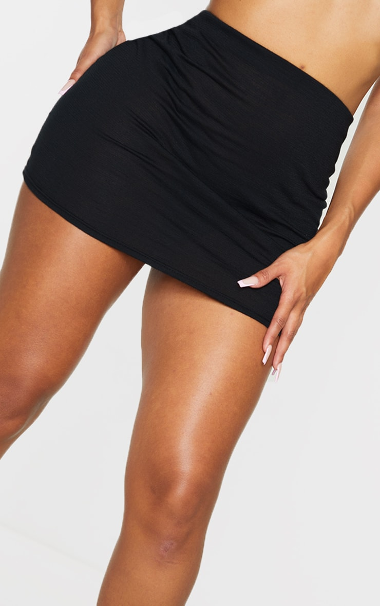 Shape Black Burnout Jersey Bodycon Skirt 5
