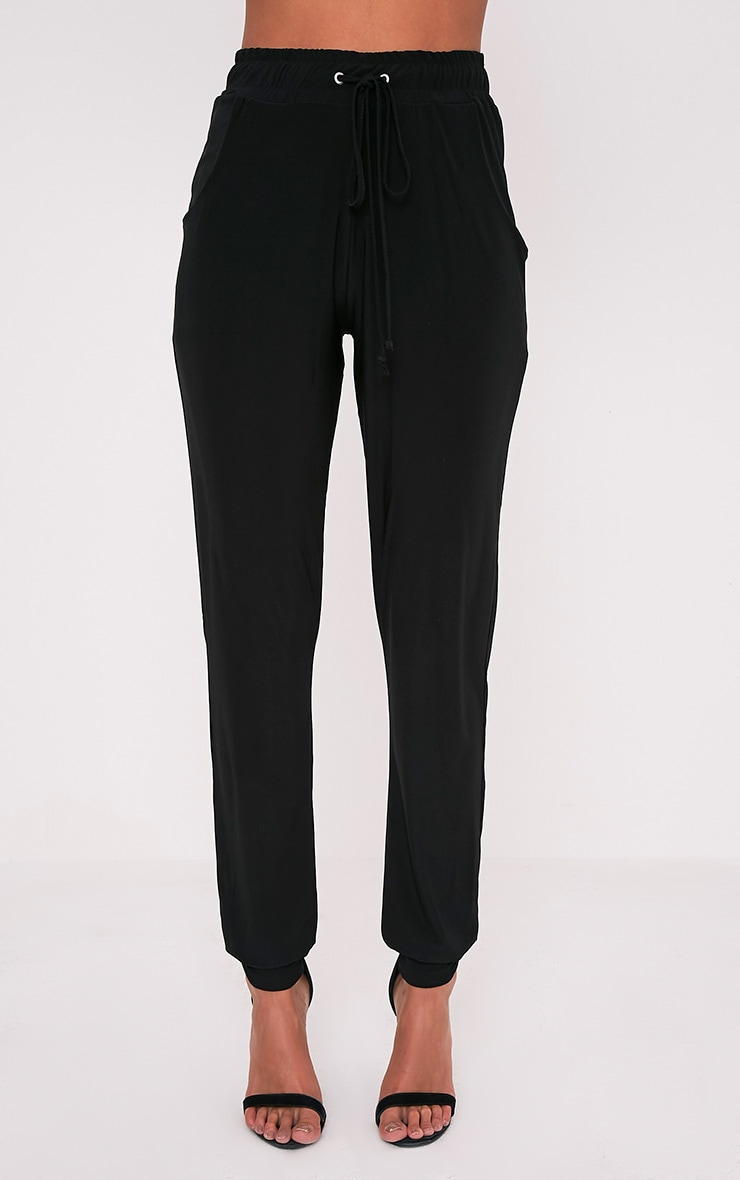 Savanna Black Slinky Joggers 2