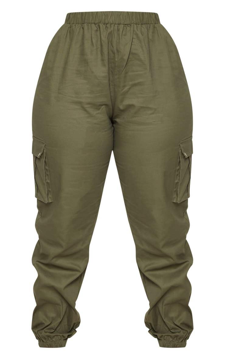 Plus Khaki Pocket Detail Cargo Trousers   3