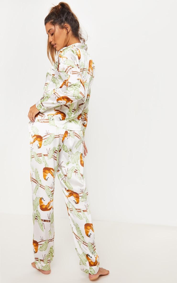 Jungle Tiger Long Satin Pyjama Set 2