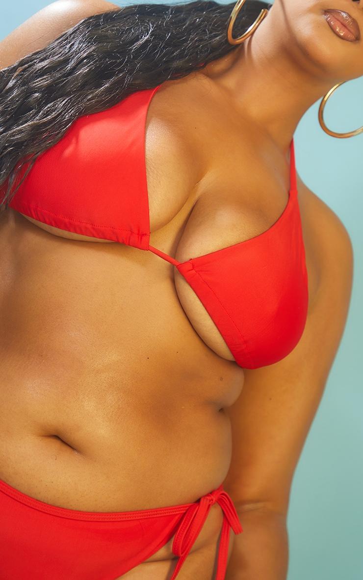 Recycled Plus Red Mix & Match Triangle Bikini Top 4