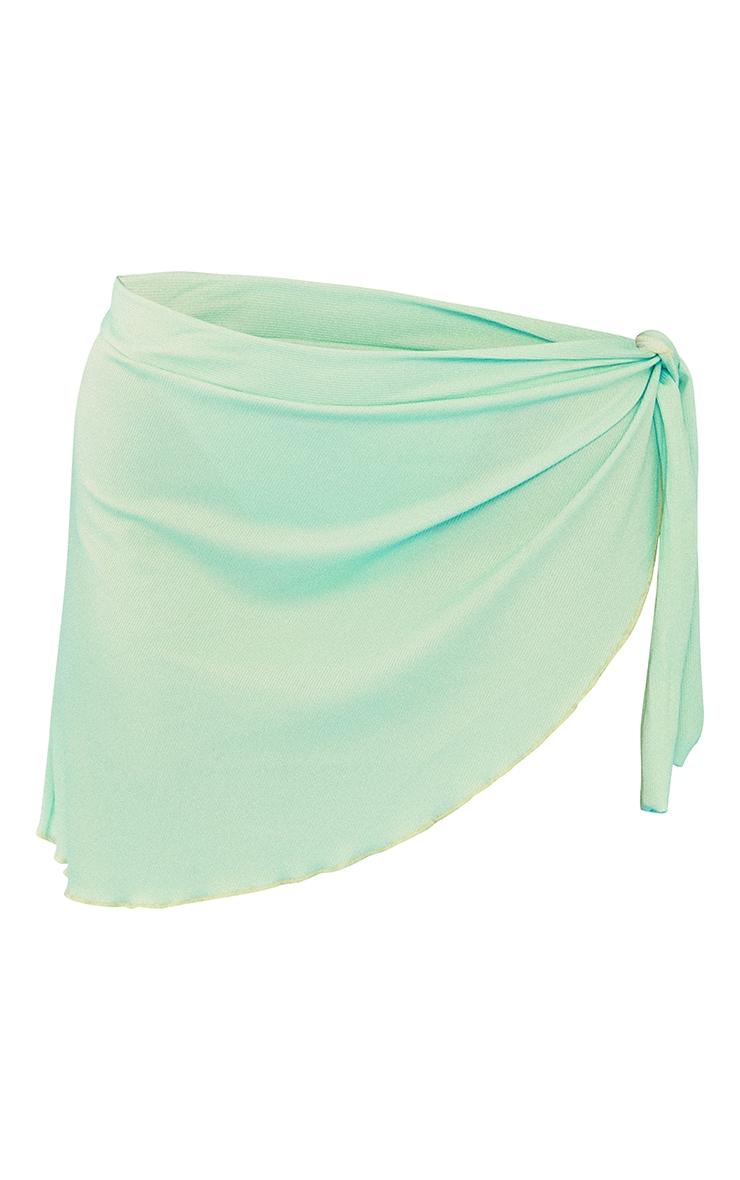 Green Ribbed Tie Sarong 6