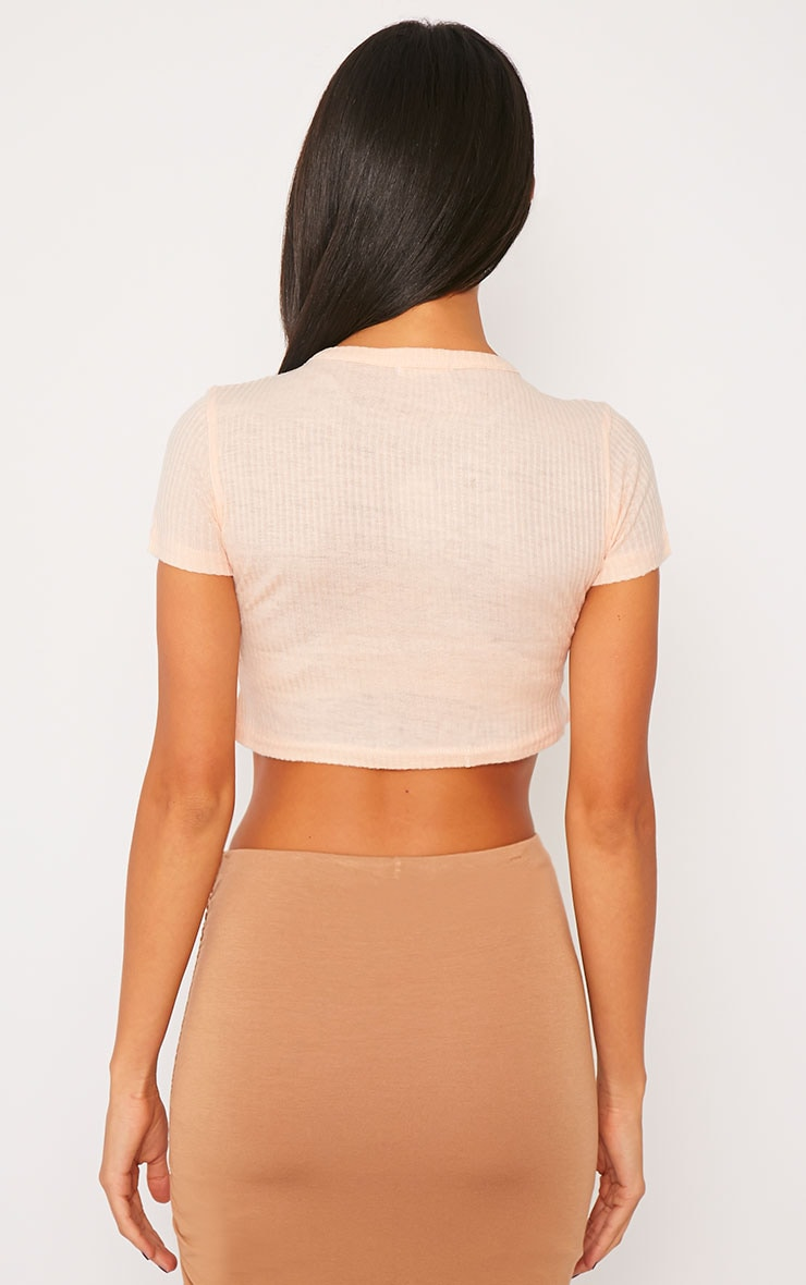 Basic Nude Rib Crop Top 2