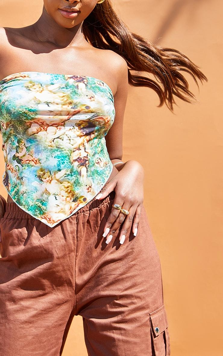 Green Renaissance Slinky Bandeau Handkerchief Top 4