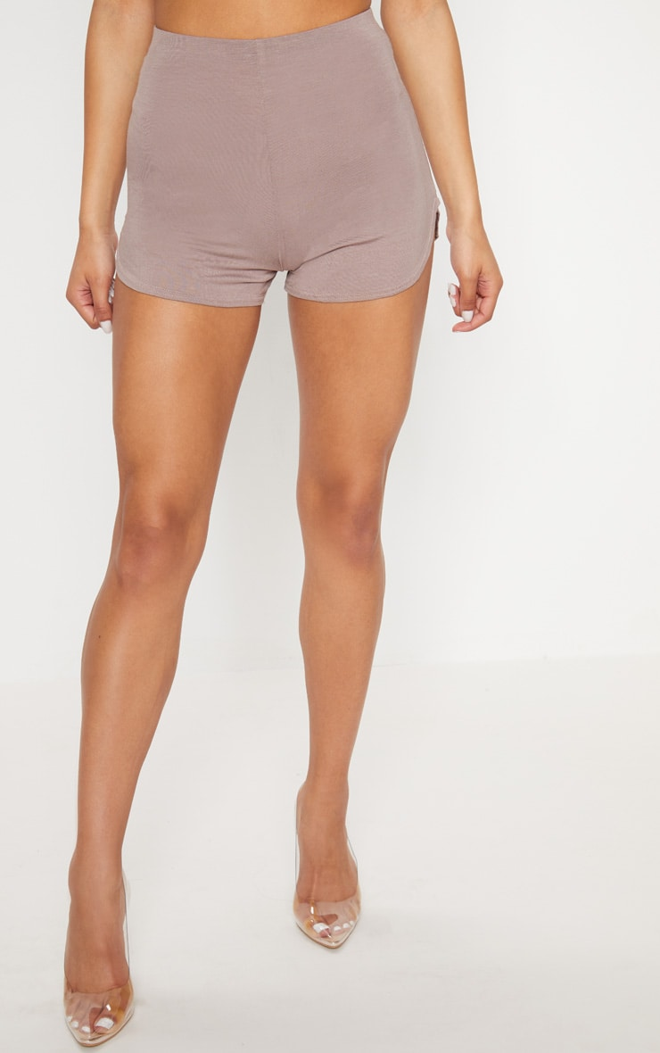 Taupe Basic Runner Short  2