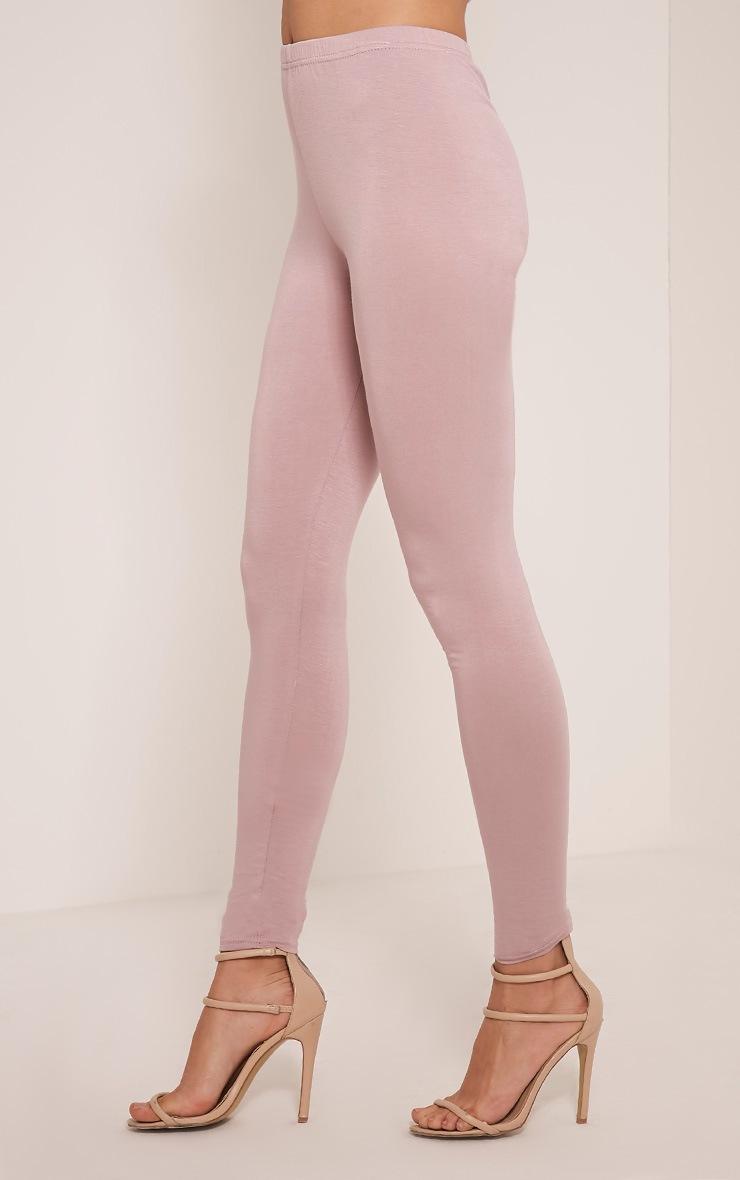 Basic Mauve Jersey Leggings 4