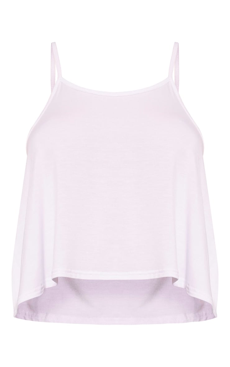 Basic White Jersey Swing Cami Top 3