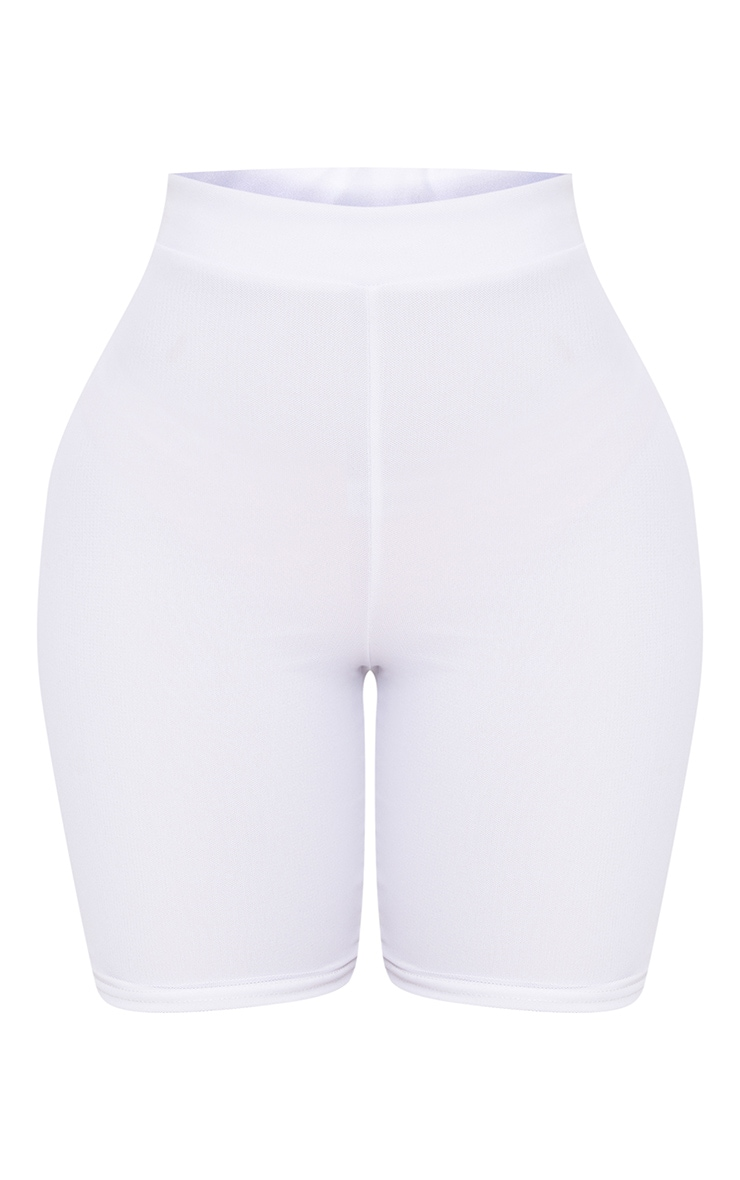 Shape White Mesh Bike Shorts 3