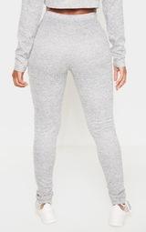 Shape Grey Marl Knit Tie Waist Leggings 4