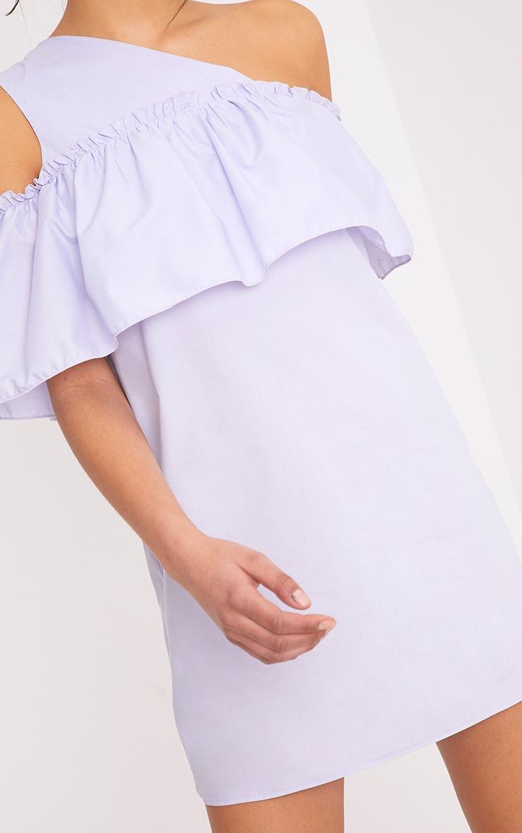 Katarinnah Lilac One Shoulder Frill Shift Dress 5