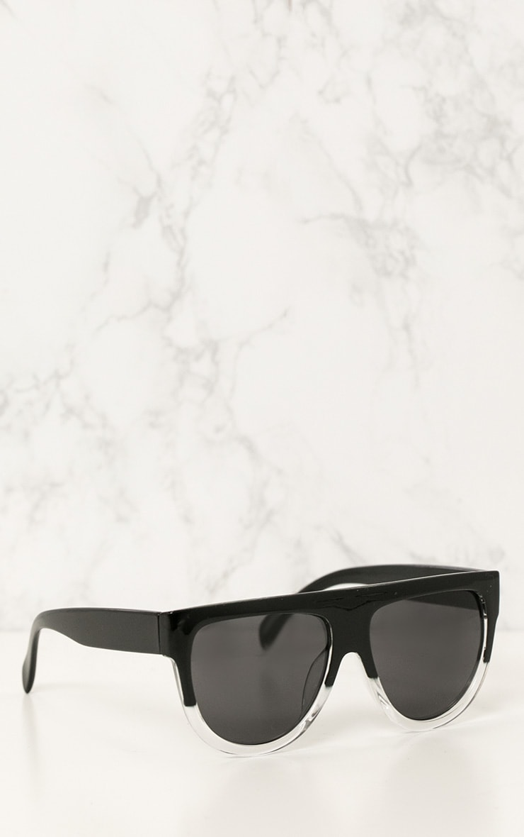 Kristen Black & Clear Frame Sunglasses 2