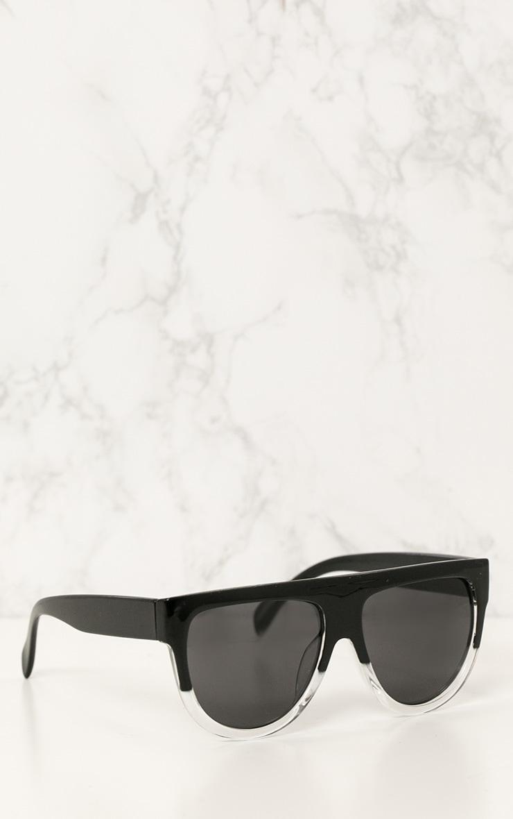 Kristen lunettes de soleil à monture noire et transparente 2