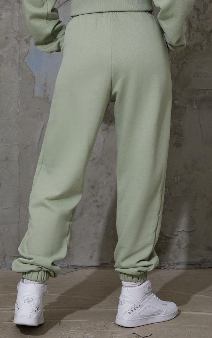 Sage Green Pocket Cuffed Joggers 3