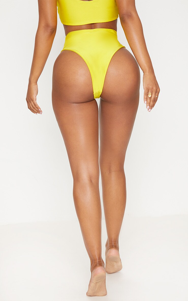 Shape Yellow Extreme High Leg Bikini Bottom 3