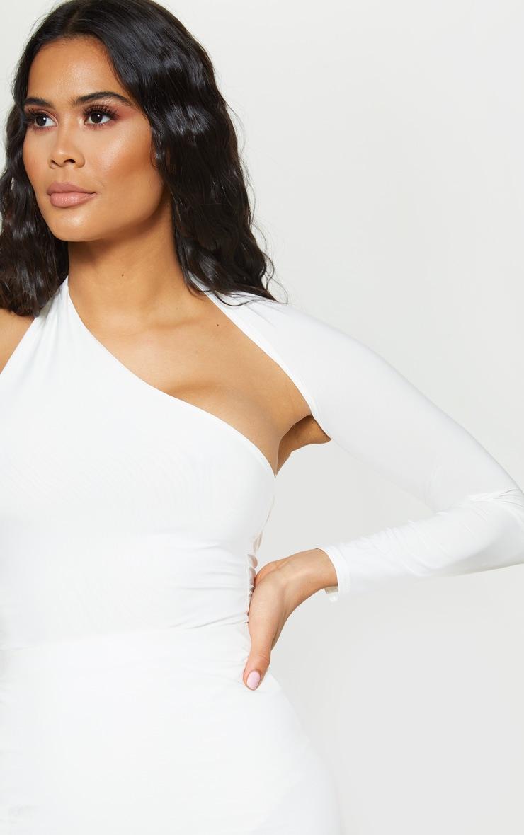 6f60b2c69cd White One Shoulder Asymmetric Bodysuit