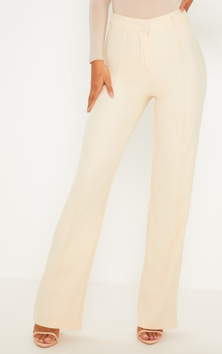 Anala Champagne High Waisted Straight Leg Trousers 2