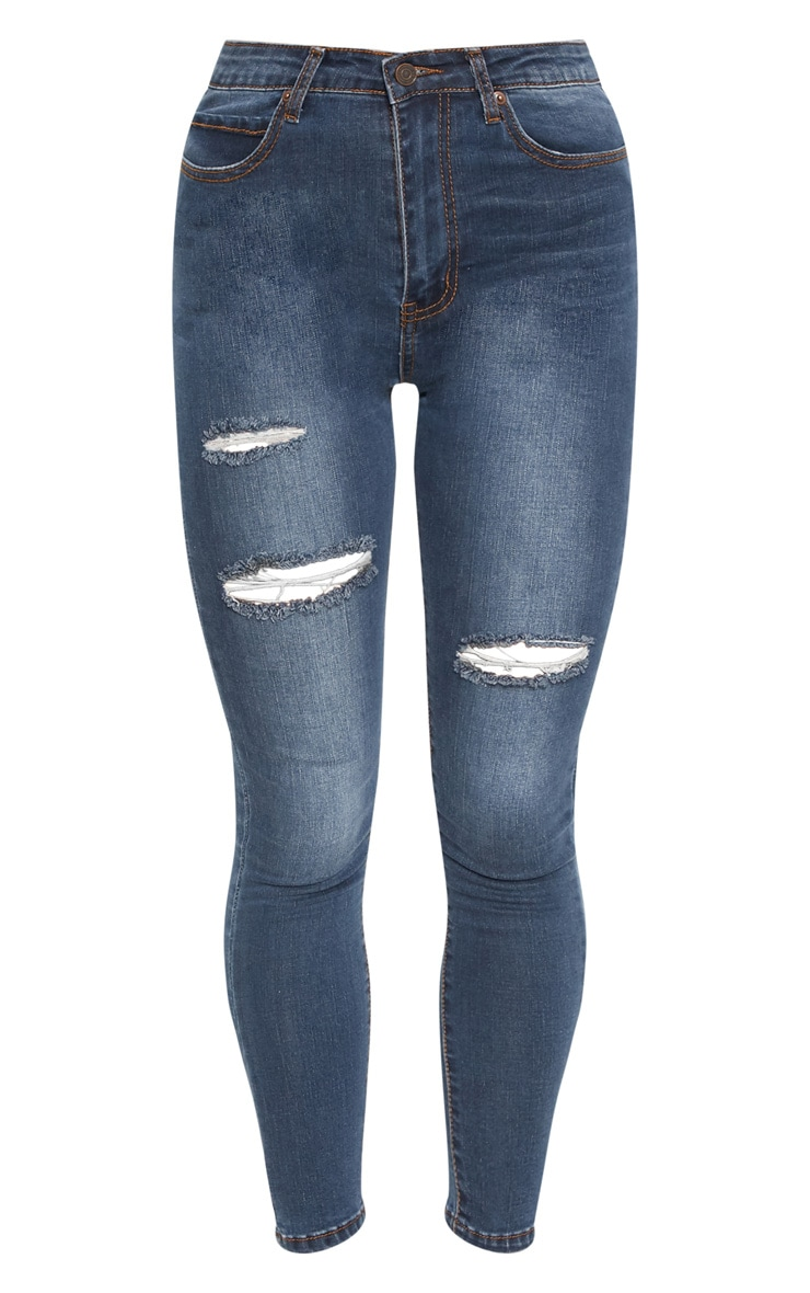 Dirty Vintage Distressed Skinny Jean 3