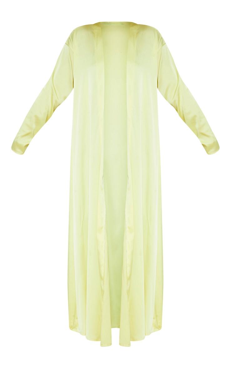 Lime Satin Kimono  3
