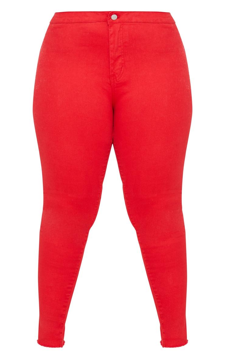 Plus Red Disco Skinny Jeans 2