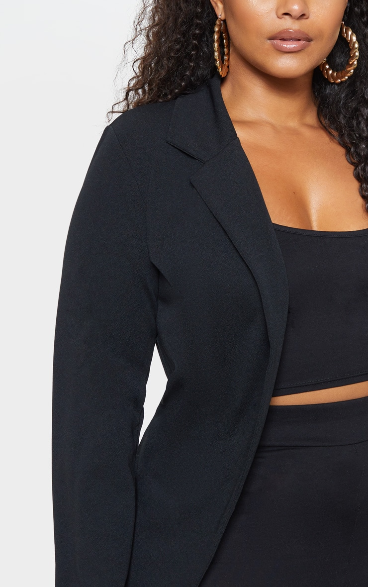 Plus Black Longline Blazer 6