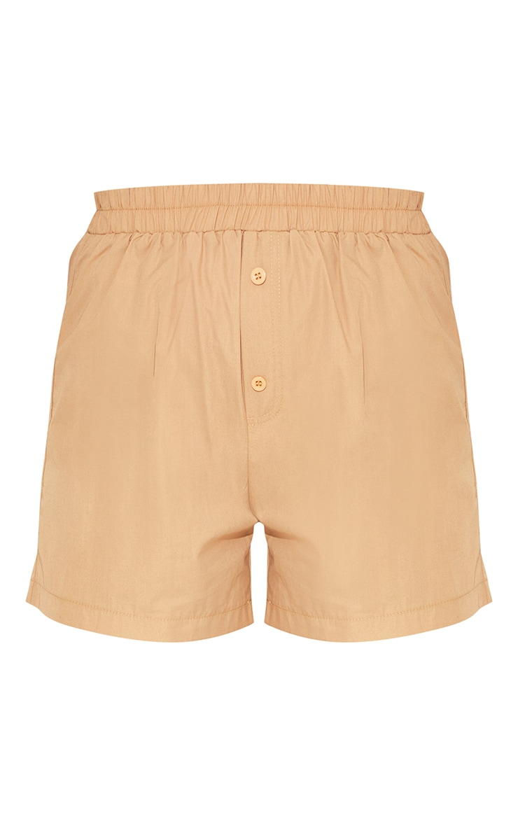Light Brown Woven Boxer Detail Shorts 6