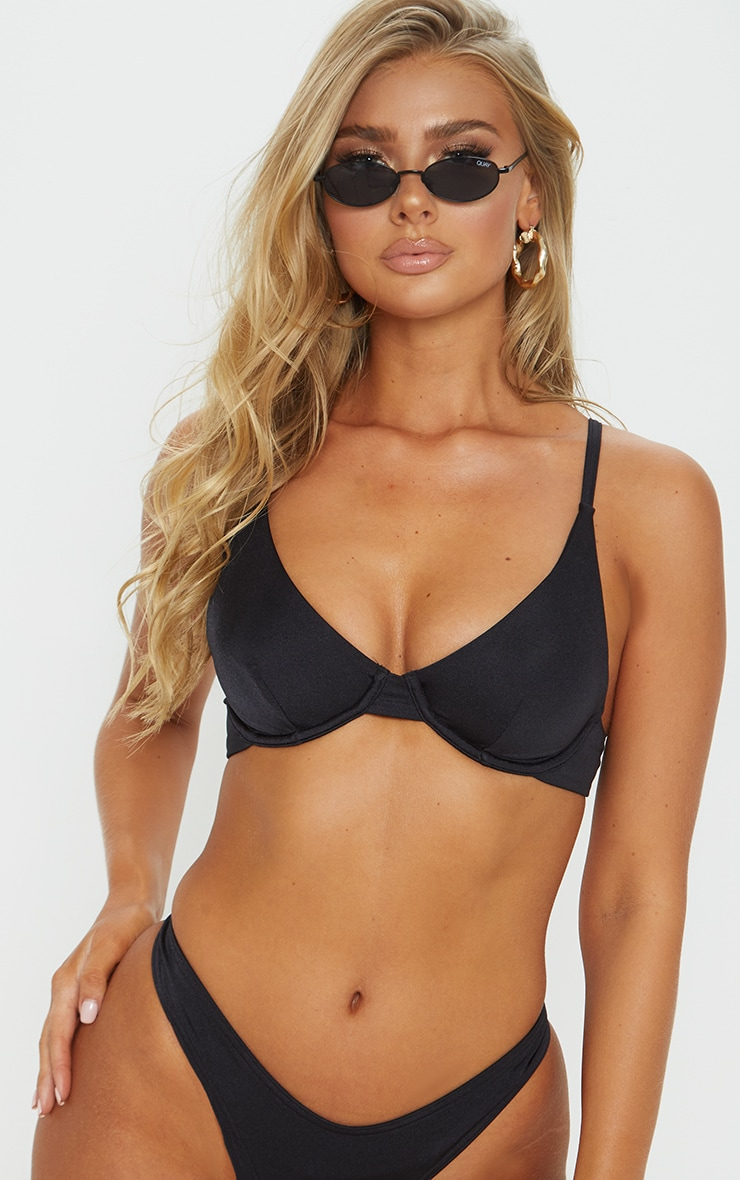 Black Mix & Match Underwired Bikini Top 1