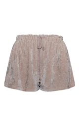 Taupe Mix And Match Luxe Rib Velour PJ Shorts 6