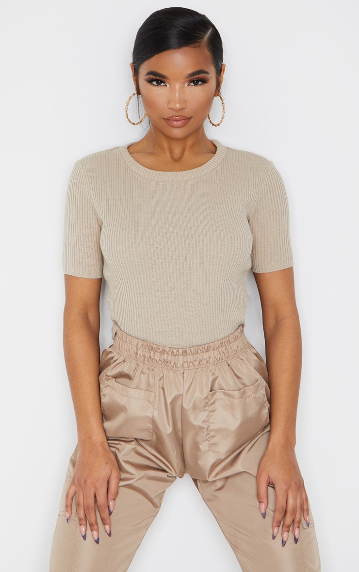 Stone Short Sleeve Knitted Tee 1