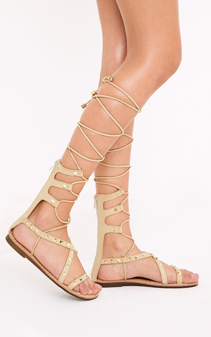 Pippy Stone Studded Gladiator Sandals 1