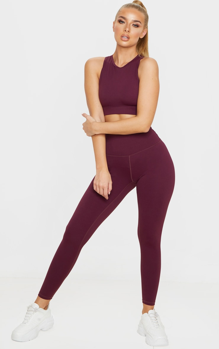 Berry Sculpt Luxe High Waist Gym Legging 1