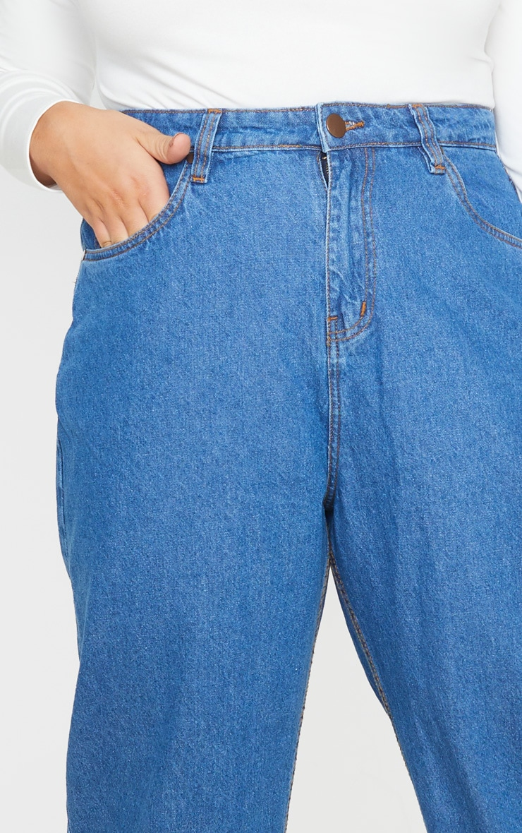 Plus Mid Wash Slim Mom Jean 5