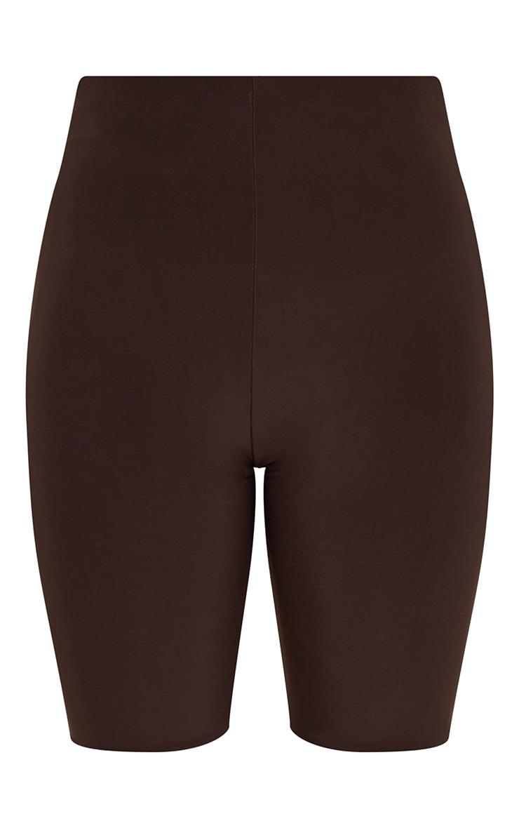 Dark Brown Slinky Bike Shorts 6