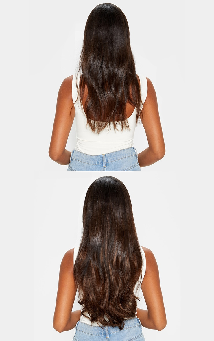LullaBellz – Extensions à clipser en 5 parties 57 cm – Warm Brunette 3