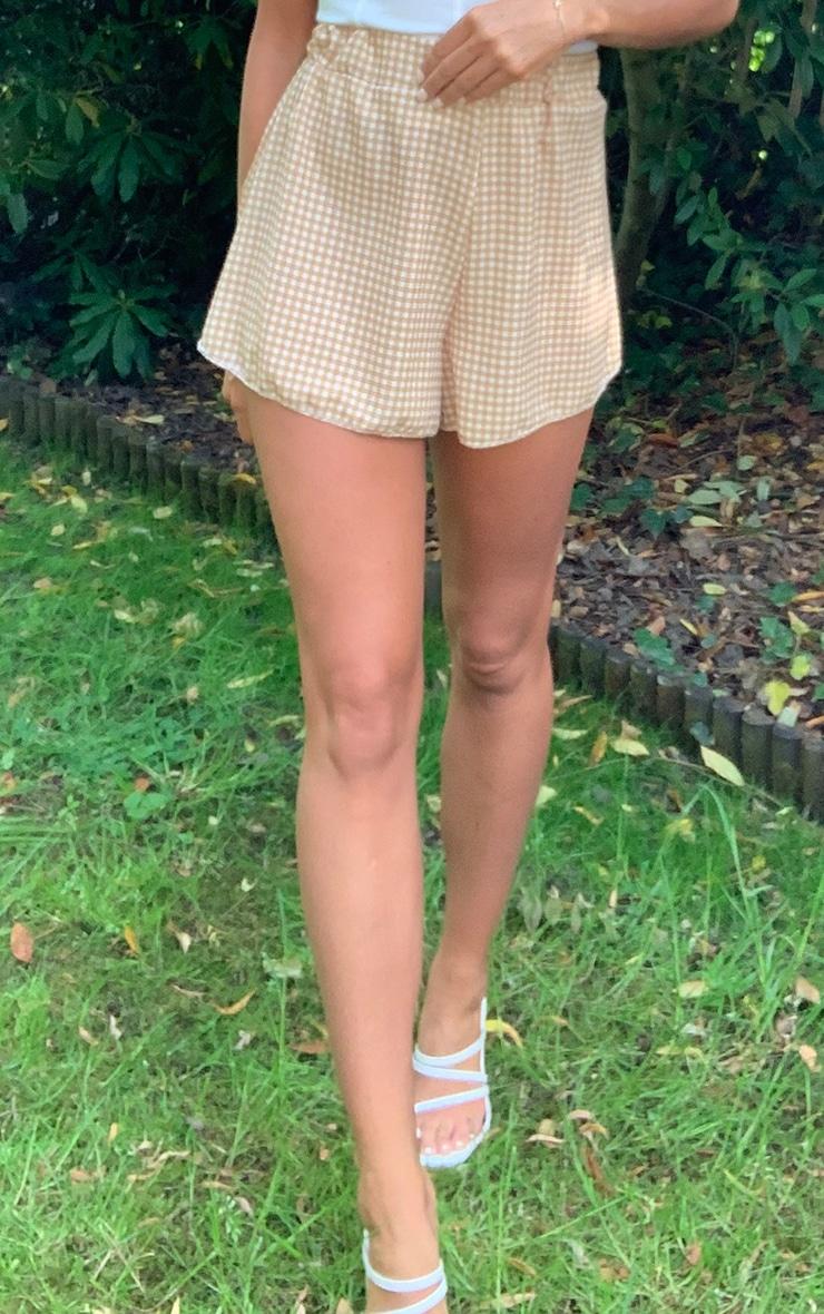 Stone Gingham Floaty Shorts 2