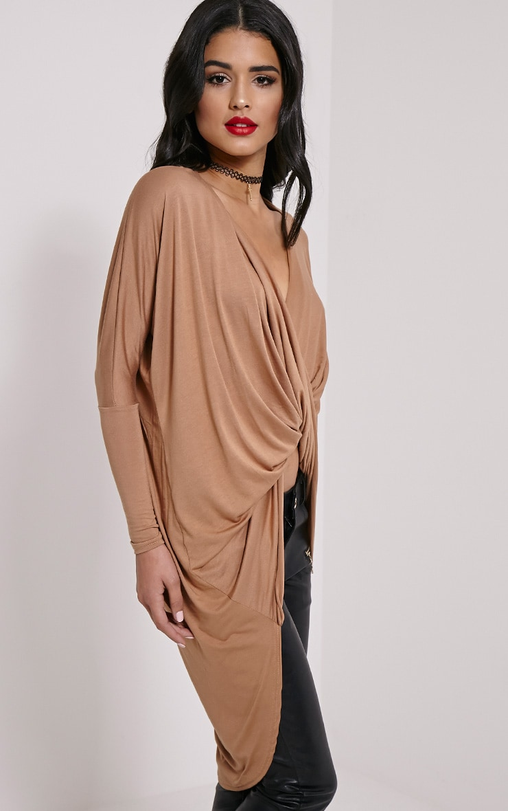 Chastity Camel Long Twist Front Top 4