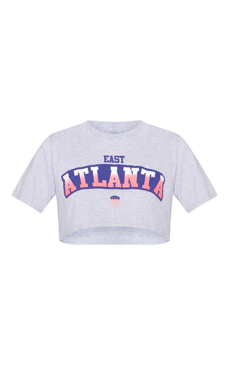 Grey Atlanta Slogan Crop T Shirt 3