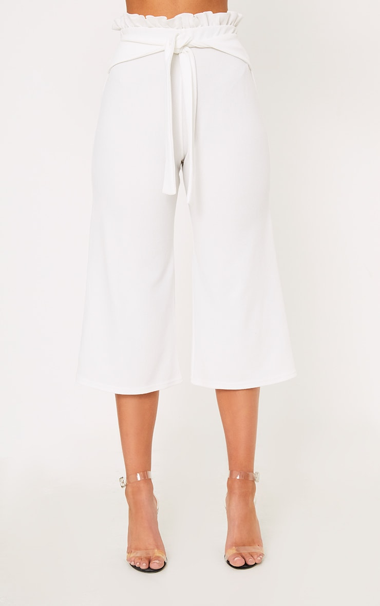 White Paperbag Culottes 2
