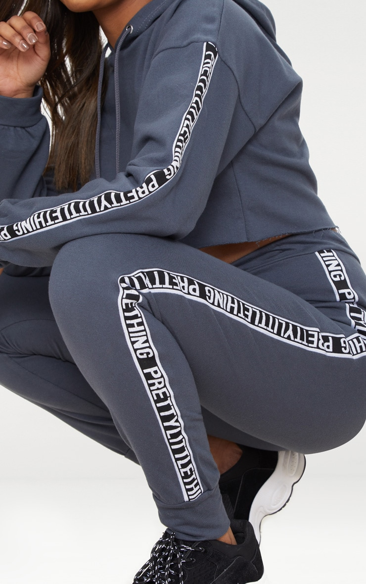 PRETTYLITTLETHING Petite Charcoal Joggers 5