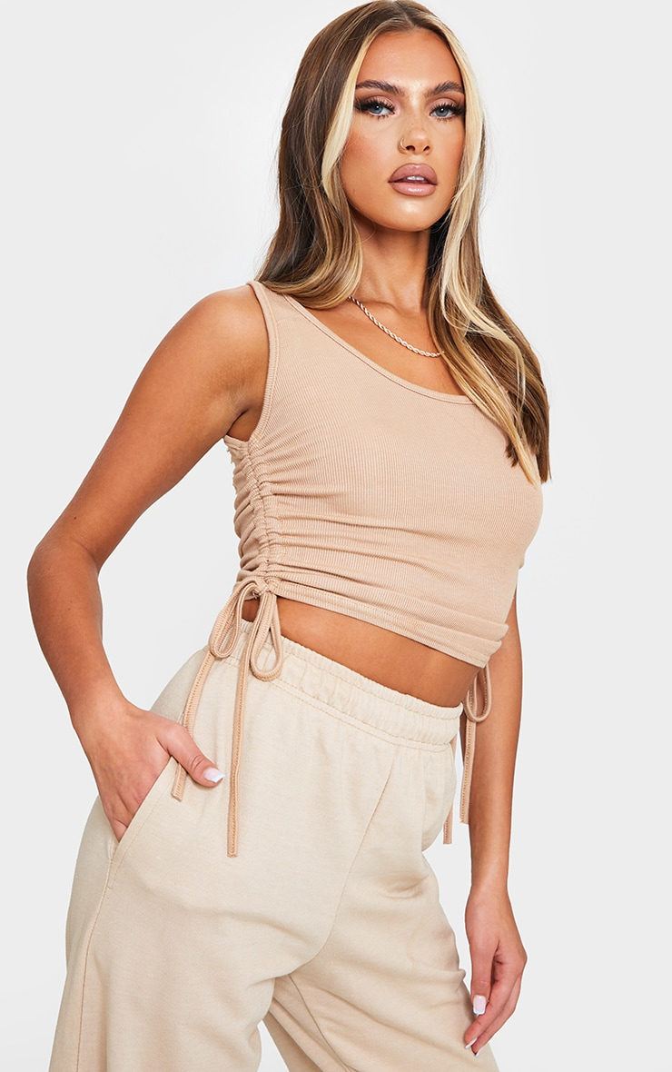 Stone Rib Ruched Side Vest Top 1