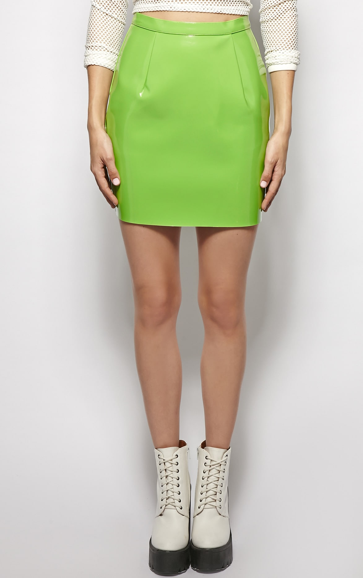 Natalya Green PVC Mini Skirt 3