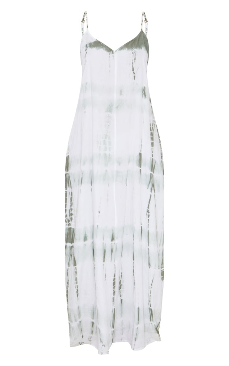 Olive Tie Dye Maxi Beach Dress 5