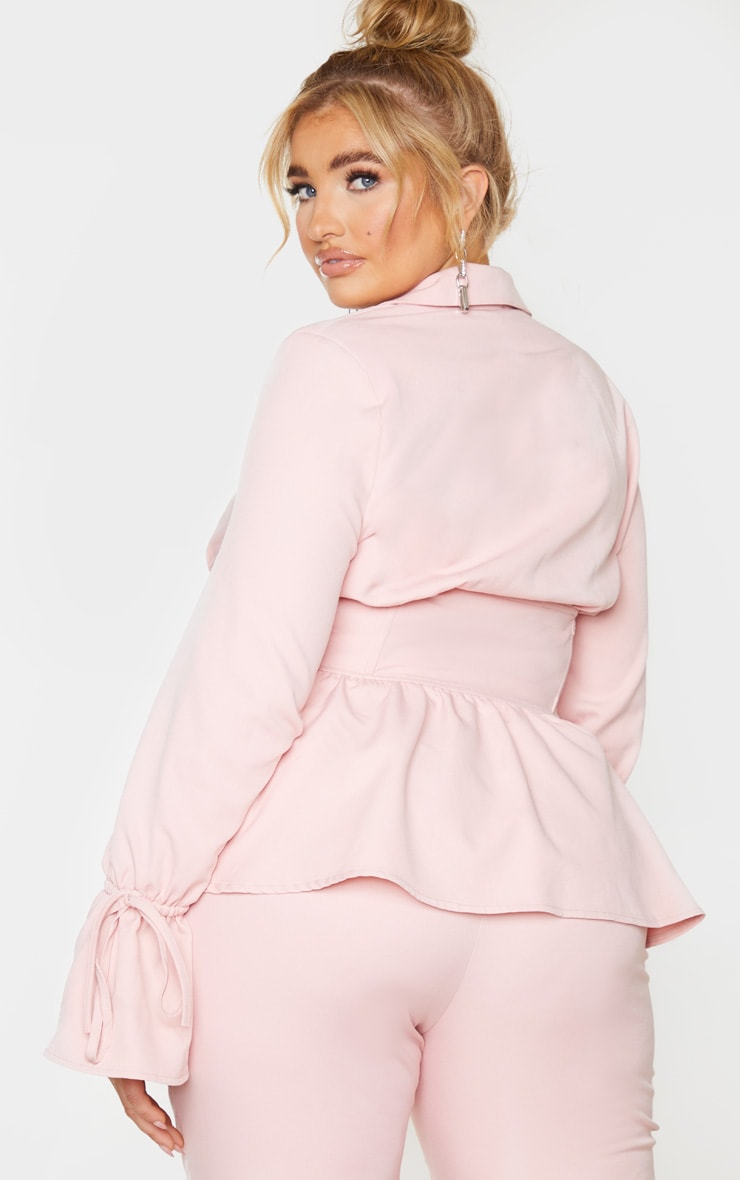 Plus Blush Corset Waist Blazer 2