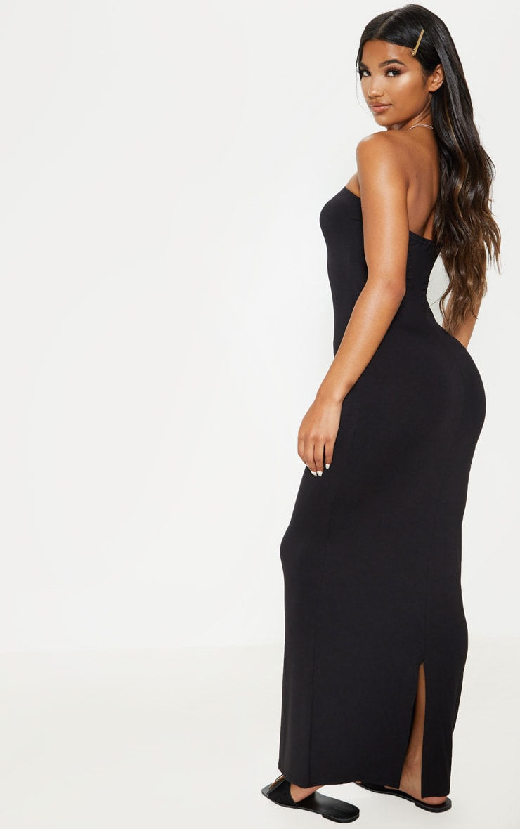 Black Bandeau Maxi Dress 2