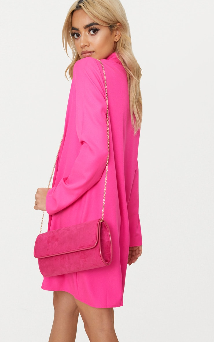 Pink Fold Over Cross Body Bag 1