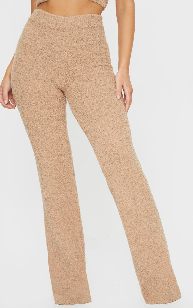 Taupe Chenille High Waist Trouser 2