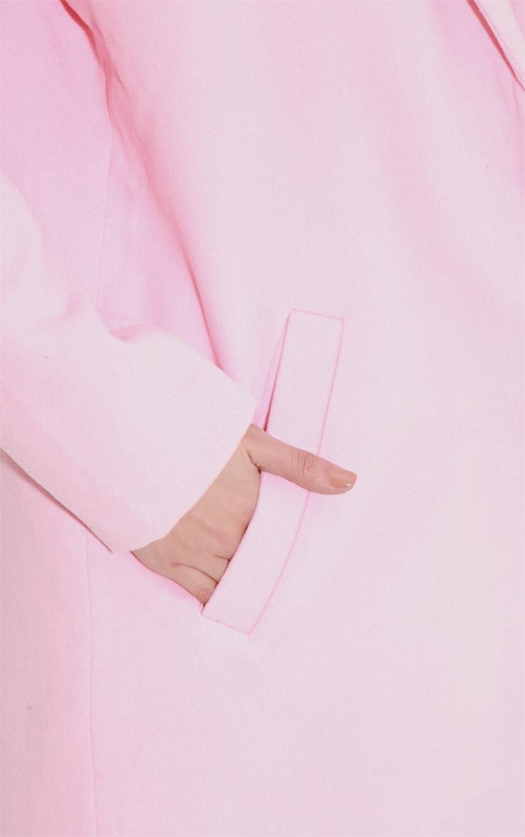 Avril Pink Longline Boyfriend Coat  6