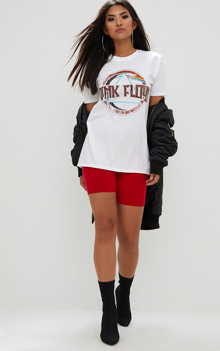 Pink Floyd Slogan White T Shirt 3