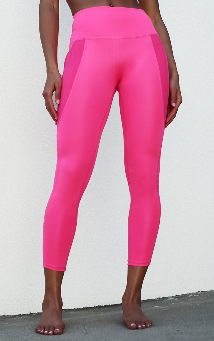 Pink Side Pocket Basic Legging 2