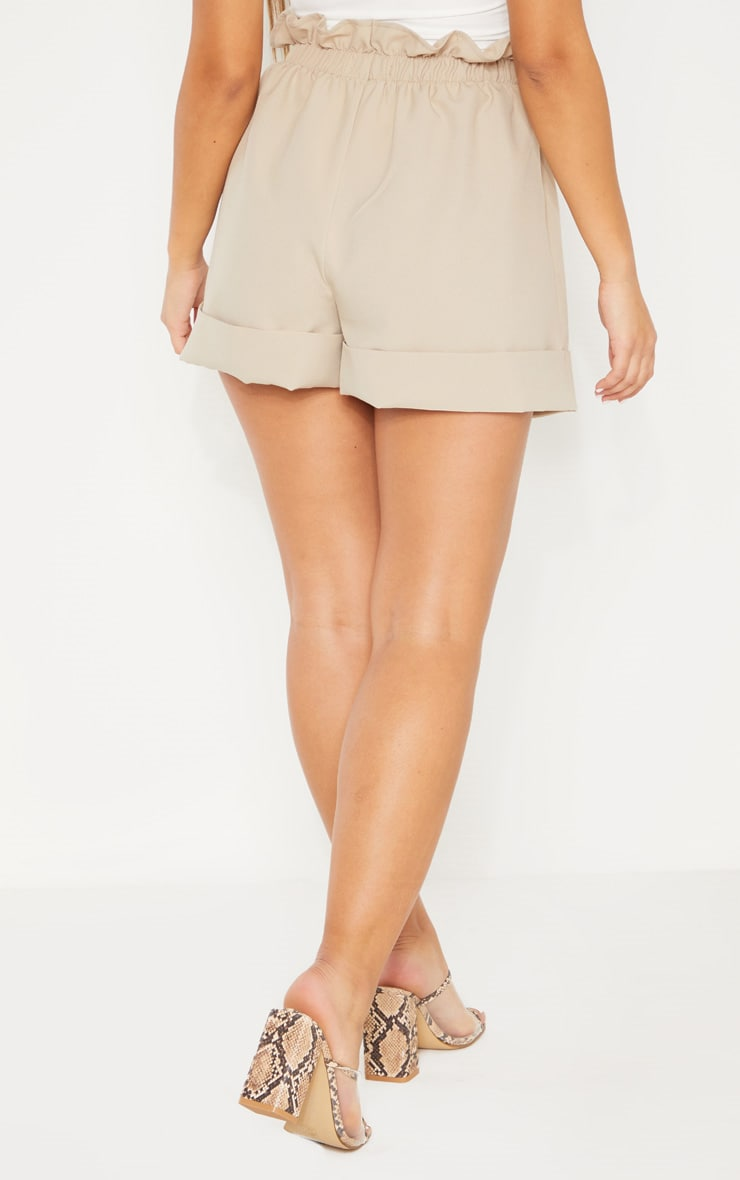 Stone Woven Turn Up Hem Short  4